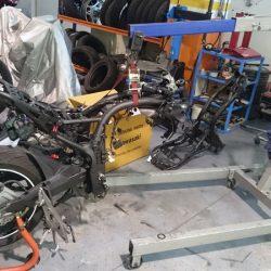 cambio de chasis Kawasaki Z75 patrickmotos elche alicante 02